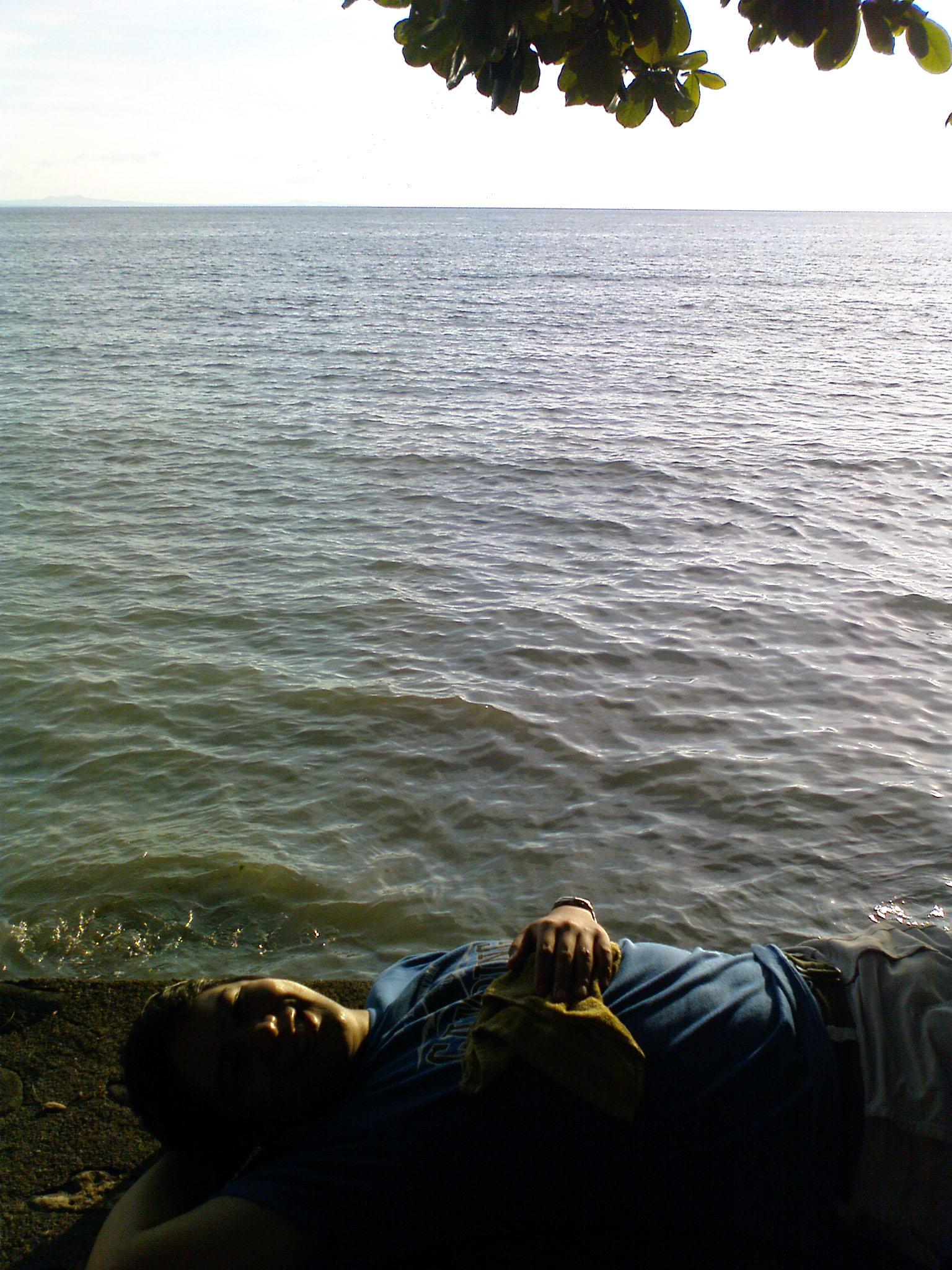 Lying Careless on a Beach