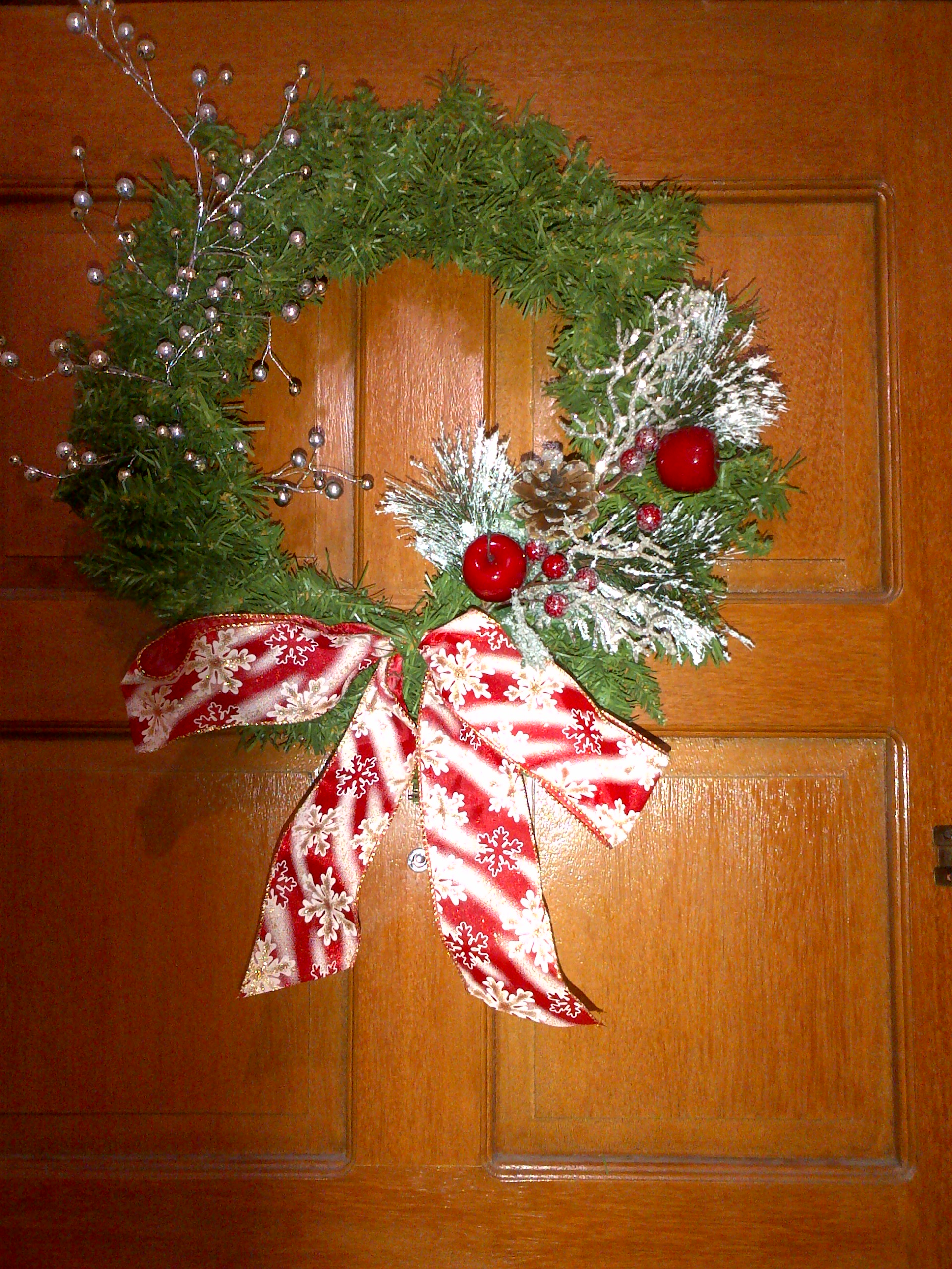 xmas door wreath 2013
